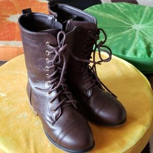 Brown Lace up Boots Girl 11